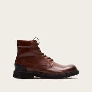 Frye Men's Terra Brown Cognac Lace Up Boots 11